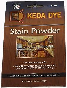 Blue Dye Keda Royal Blue Powder Wood Dye 25 Grams Makes 1 Gallon Blue Stain Color