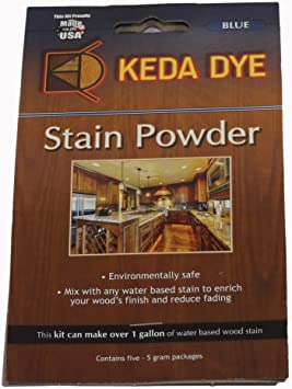 Tinte azul por Keda Dye – (25) gramos de tinte de madera azul – hace 5 tintes de cuartos de galón