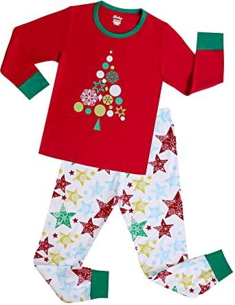c5c5e51da5 Amazon.com  Girls Pajamas Children Set Kids Sleepwear Toddler Cotton ...