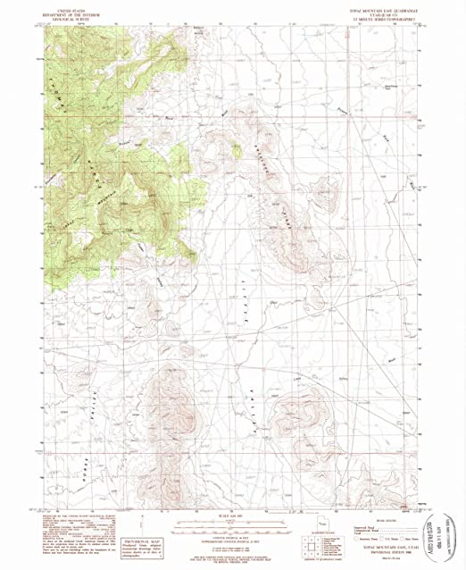 Topaz Mountain Utah Map.Amazon Com Utah Maps 1988 Topaz Mountain East Ut Usgs Historical