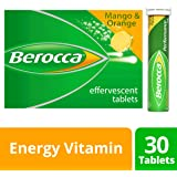 Berocca Energy Vitamin, Mango & Orange - 30 Effervescent Tablets