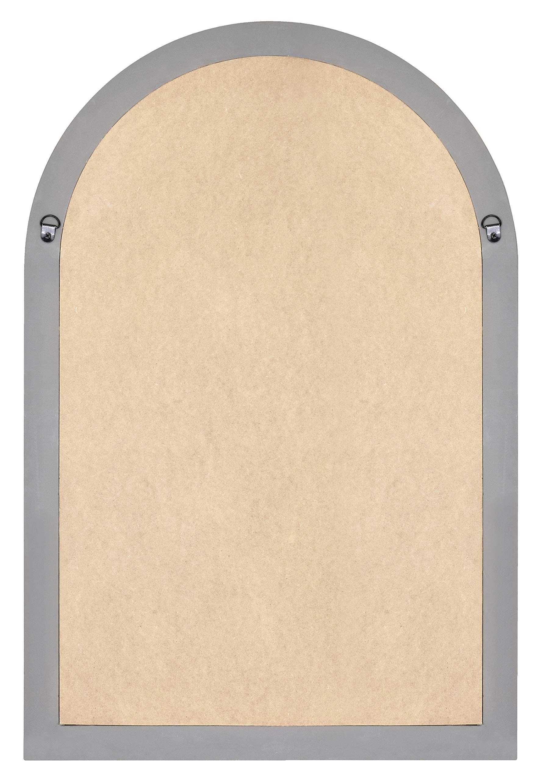 MCS 68874 Countryside Arched Windowpane Wall, Gray, 24x36 Inch Overall Size Mirror, by MCS (Image #4)