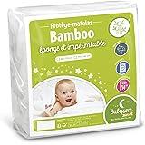 Babysom - Protège Matelas/Alèse Bébé - Bamboo - 60x120 cm - Imperméable - Doux et Respirant - Bouclette éponge