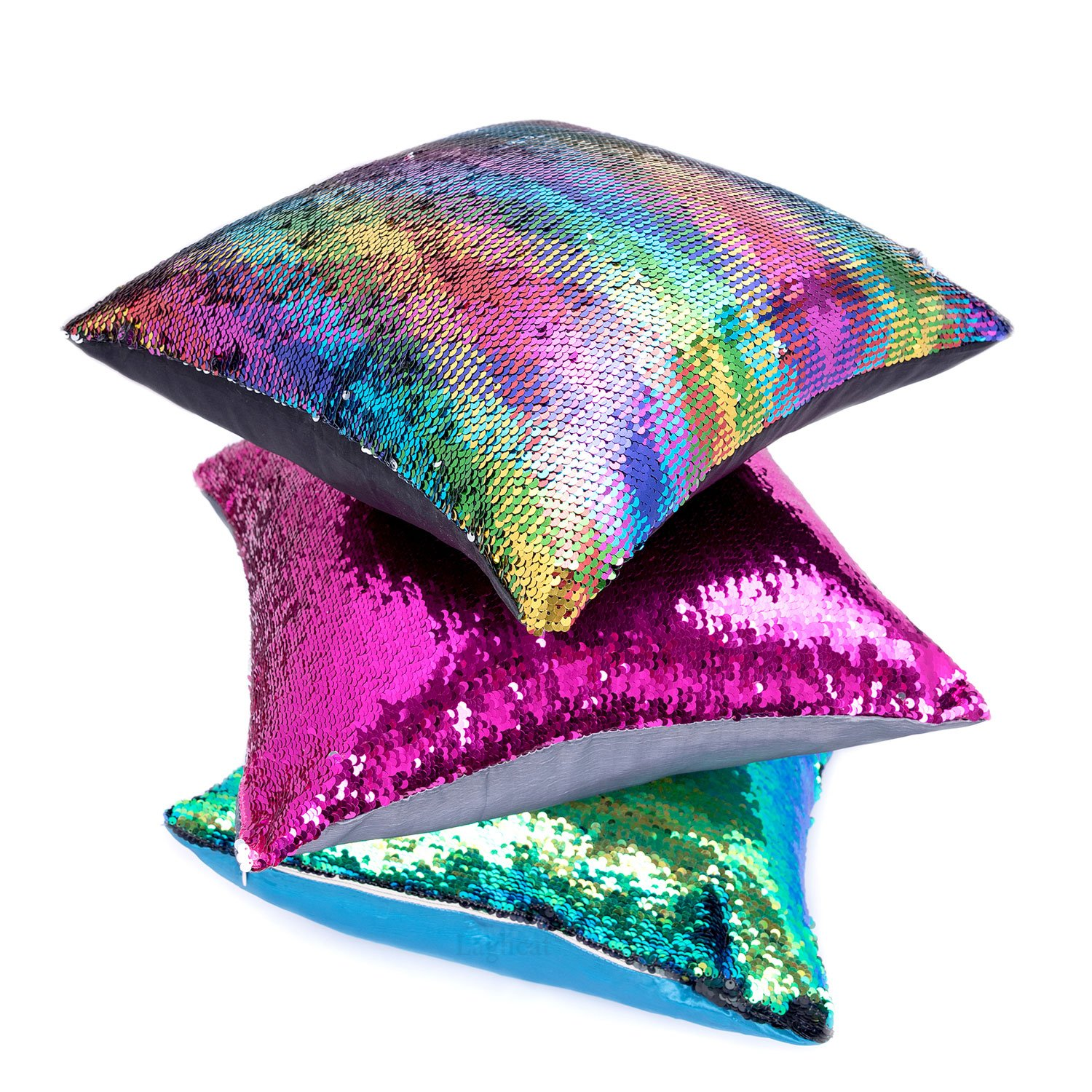 Sequins Mermaid Pillow Cases w...