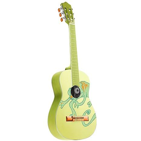 Rocket Music CG34CH - Guitarra clásica (tamaño 3/4), color verde ...
