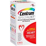 Centrum Specialist Heart Adult (60 Count) Multivitamin / Multimineral Supplement Tablet, Vitamin D3, C, B-Vitamins with Phytosterols