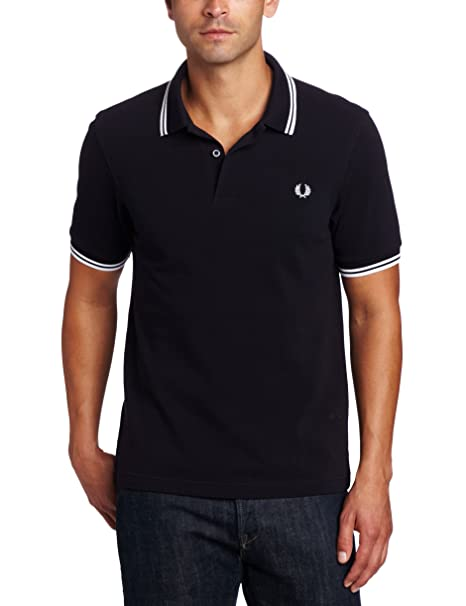 Twin Tipped Shirt, Polo para Hombre, Navy/White/Red, X-Small Fred Perry
