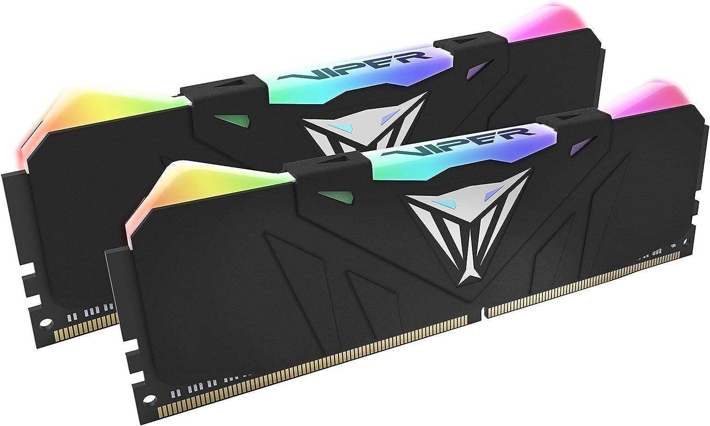 Patriot Viper Gaming RGB Series DDR4 DRAM 3200MHz 16GB Kit - Black - RGB Color Profiles