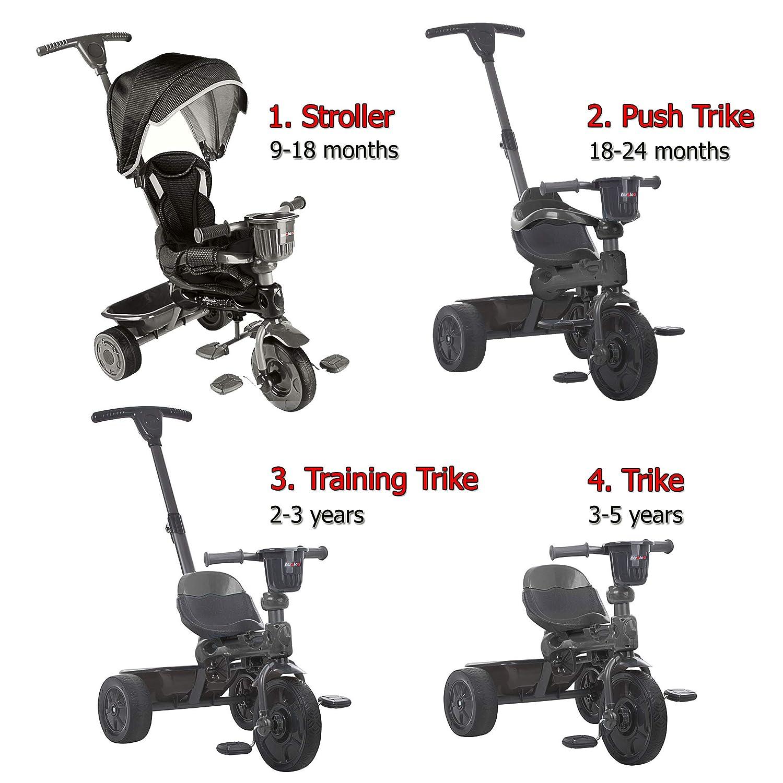 Amazon.com: STROLEE 4 en 1 niños paseo y triciclo para 9 ...
