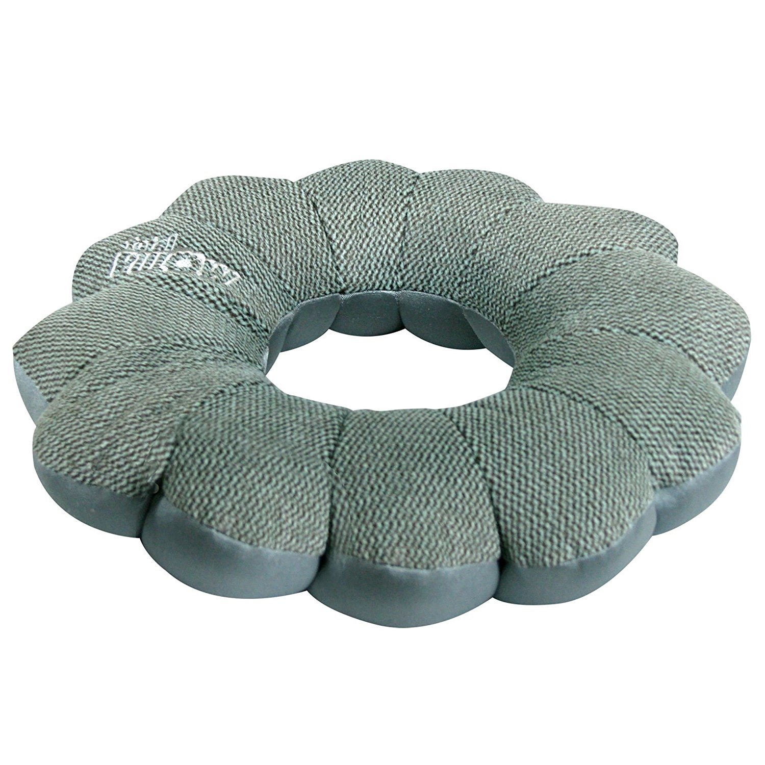 Back and Knees COMIN18JU037982 Use at Home or On The Go To Support Your Neck Exclusive Designer Collection Total Pillow Microbead Portable Pillow Classic Slate Hampton Direct Inc