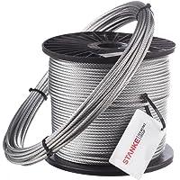 Seilwerk STANKE 60m Cuerda de Acero 5mm 6x19