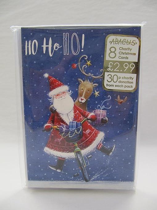Tarjetas de Navidad de caridad | Paquete de 8 | Muñeco de