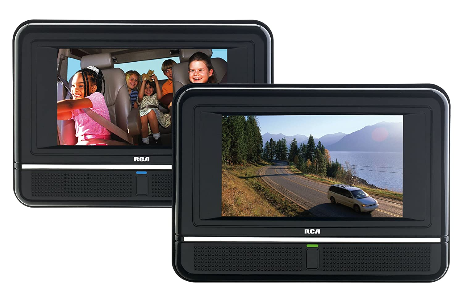 amazoncom rca drc6272 7 inch twin mobile dvd players play two different dvds electronics