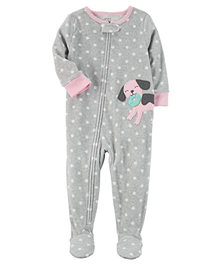 New feety pjs pajamas 1 piece fleece 24 month 2t girls boys sleepwear dogs
