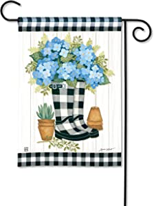 BreezeArt Studio M Black and White Wellies Decorative Garden Flag – Premium Quality, 12.5 x 18 Inches