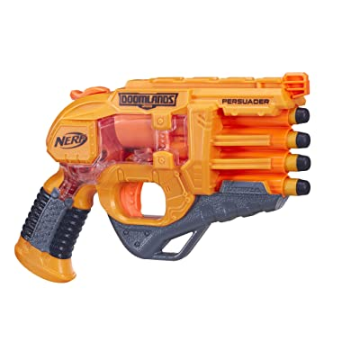 Persuader Nerf Doomlands Toy Blaster with Hammer Action and 4 Official Nerf Doomlands Darts for Kids, Teens, and Adults