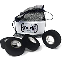 Hockey Stick Tape - 4 Pack of Cloth Black Hockey Tape - Good for Grip Tape, Street Hockey Sticks, Lacrosse Tape, Bat Tape or Black Athletic Tape - Great Hockey Puck Control - New Adhesive
