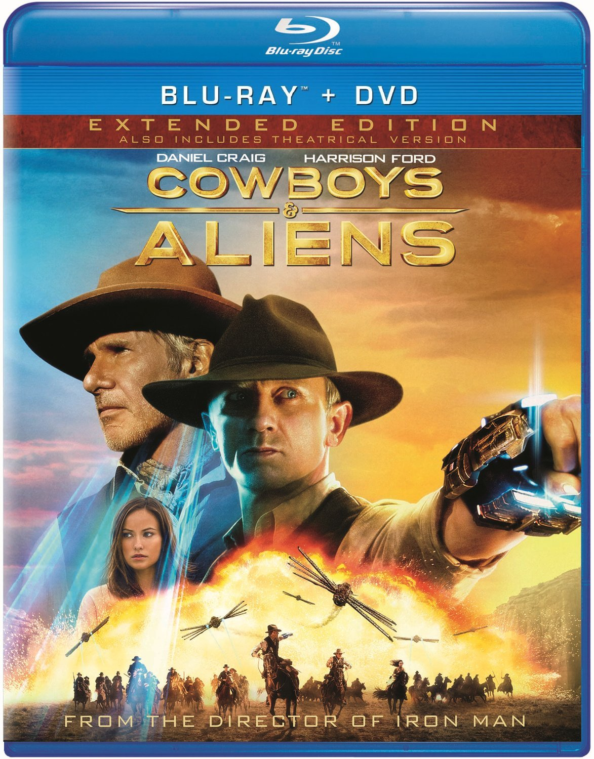 Blu-ray : Cowboys & Aliens (With DVD, Extended Edition, Rated Version, Unrated Version, Slipsleeve Packaging)