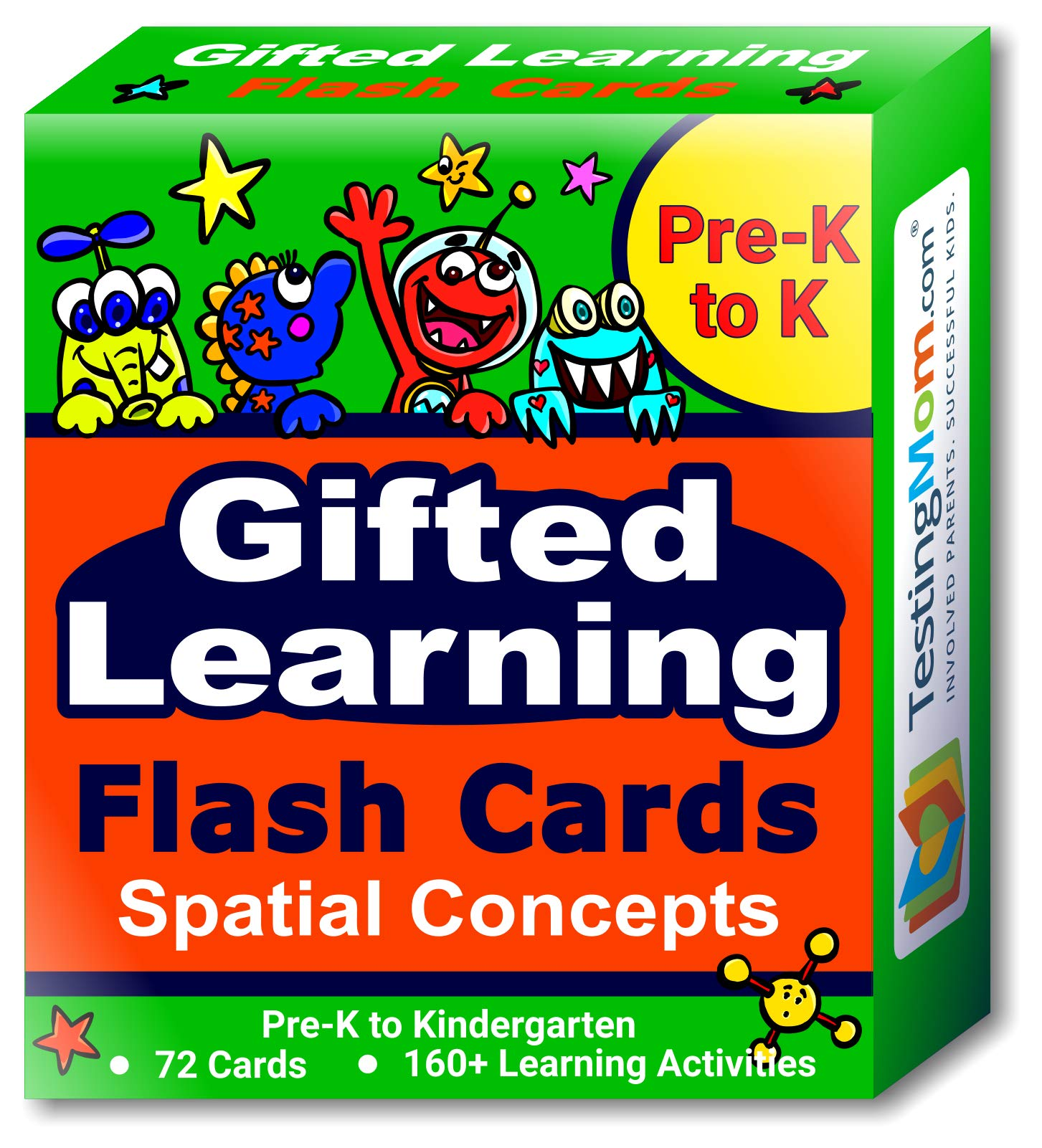 Gifted Learning Flash Cards - Visual Spatial Concepts for Pre-K - Kindergarten - 1st Grade - Educational Practice for The NNAT Test, CogAT Test, OLSAT Test, WPPSI, WISC, AABL, KBIT, SAGES and More! by TestingMom.com