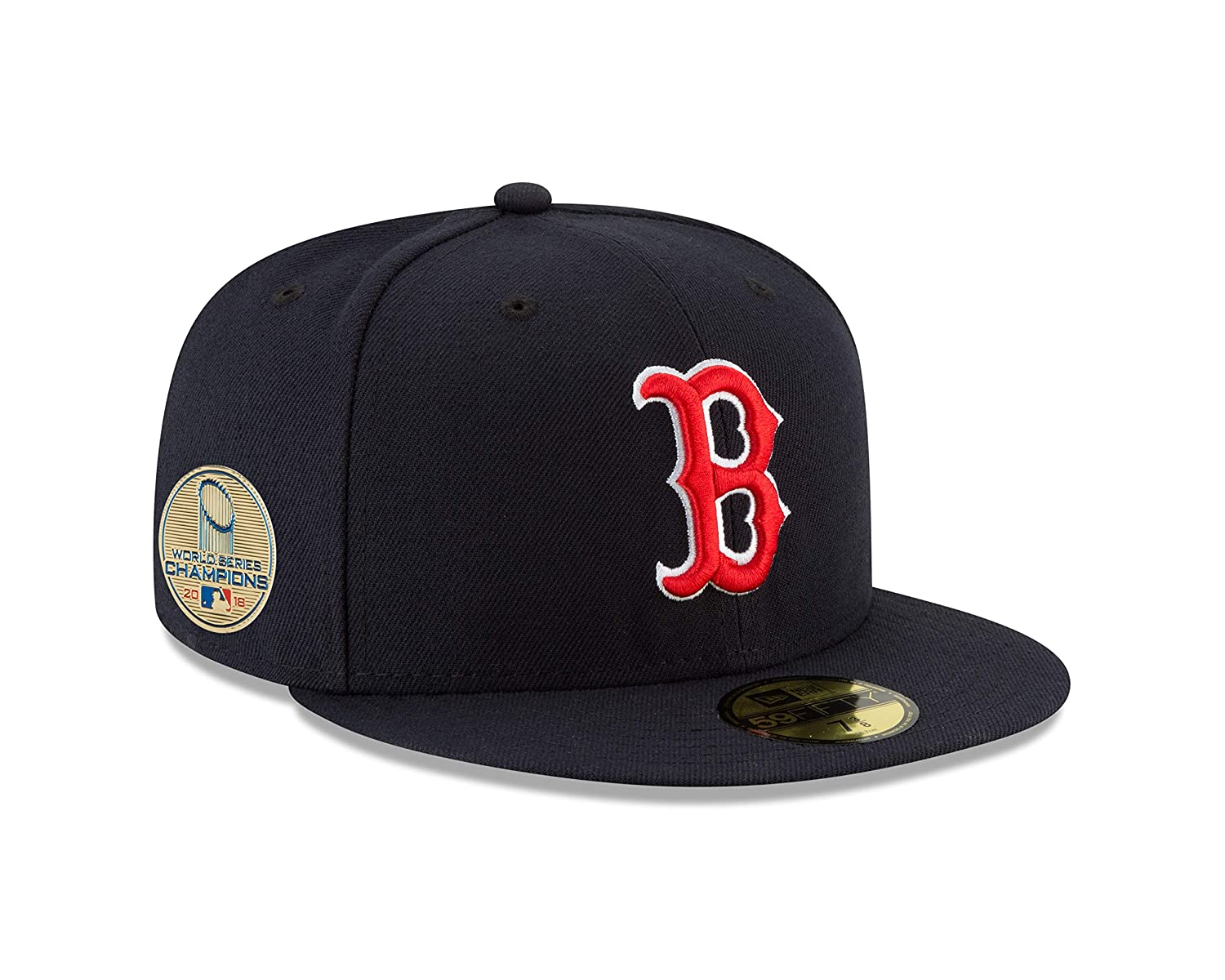 83cf694ac4fe9b Amazon.com : New Era Boston Red Sox 2018 World Series Champions Side Patch 59FIFTY  Fitted Hat - Navy : Clothing