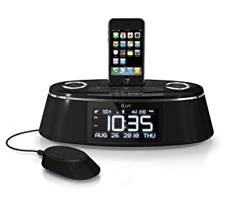 iluv imm178 vibe plus dual alarm clock with bed shaker for ipod and rh amazon ca