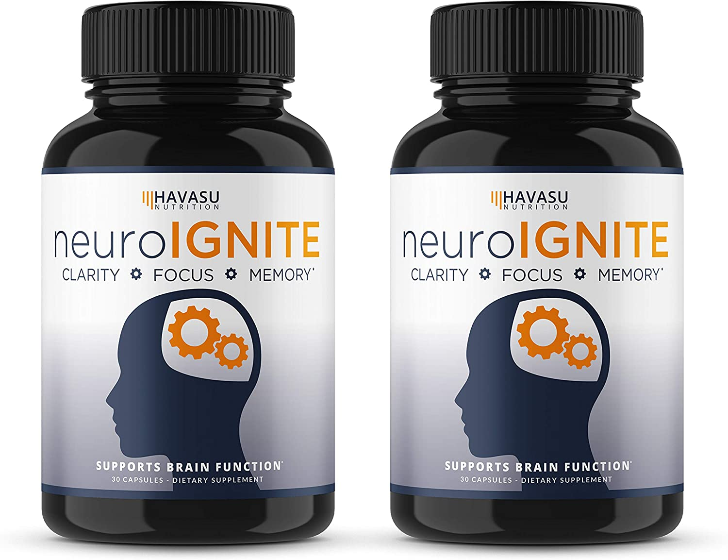 Havasu Nutrition Extra Strength Brain Supplement for Focus, Energy, Memory Clarity – Mental Performance Nootropic with St Johns Wort – Supports Brain Function for Men Women – 30 Capsules 2