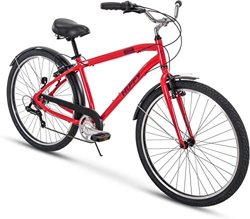 Huffy Comfort Commuter Bike, 27.5 inch Hyde Park 7 Speed 3 Speed, Lightweight Aluminum