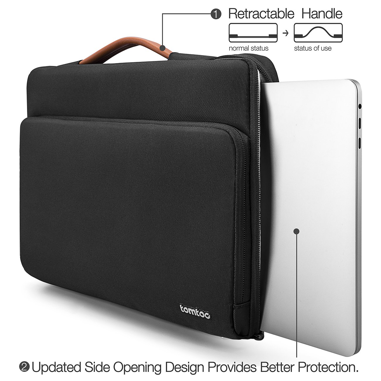 tomtoc 360 Protective Laptop Carrying Case for New MacBook Air 13-inch with Retina Display A1932, 13 Inch New MacBook Pro USB-C A1989 A1706 A1708, Microsoft Surface Pro 6/5/4, Ultrabook Accessory Bag by tomtoc (Image #6)