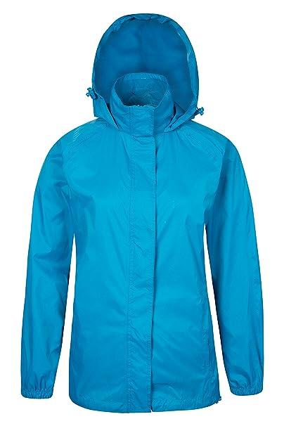 Parallel Chaqueta impermeable Mujer compresible con capucha Azul 50: Amazon.es: Ropa y accesorios