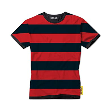 5a0f7489 Dennis the Menace Red and Black Striped Kids T-Shirt - Official Beano Brand  T