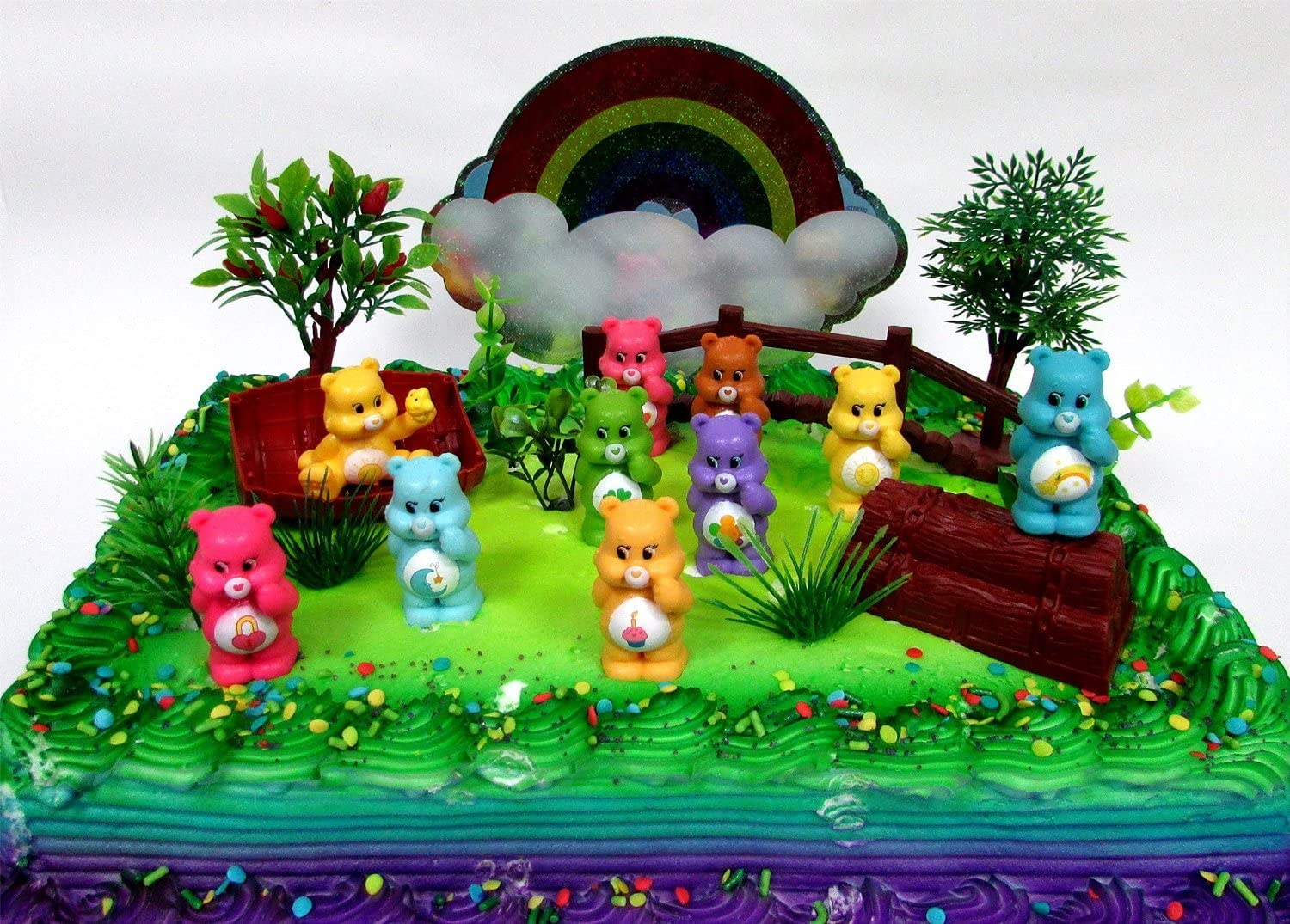 Prime Care Bears 16 Piece Birthday Cake Topper Set Featuring 10 Care Funny Birthday Cards Online Alyptdamsfinfo