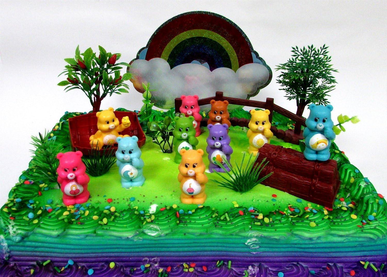 Brilliant Care Bears 16 Piece Birthday Cake Topper Set Featuring 10 Care Birthday Cards Printable Benkemecafe Filternl