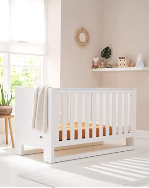Tutti Bambini Rimini Cot Bed with High Gloss White Finish