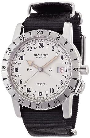 1095af3c6b [グライシン]GLYCINE 【世界限定 600本】 エアマン 1953 ビンテージ クリームダイアル ブラック