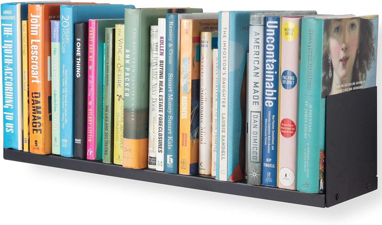 Amazon Com Wallniture Libro U Shape 24 Wall Bookshelf Floating Shelf Books Cd Dvd Storage And Display Home Decor Metal Shelf Black Kitchen Dining