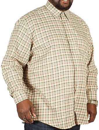 Mens Cotton Valley Big Size Brushed Cotton Long Sleeve Check Shirt 2XL 4XL 5XL