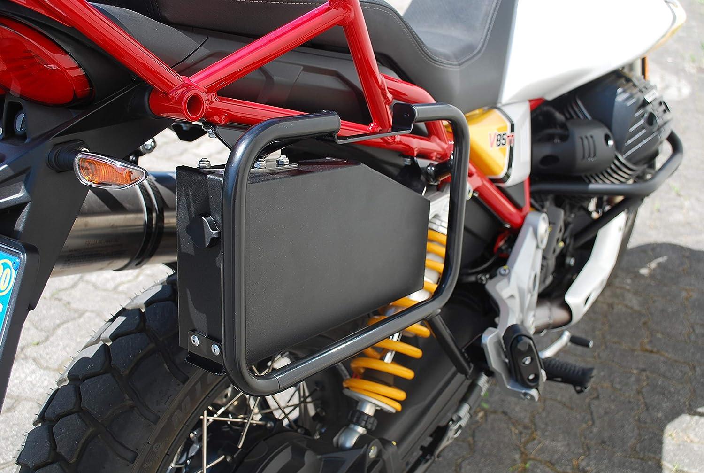 Tool Case Tool Box 3,2 litros Caja Porta Herramientas barnizada Negra Compatible Moto Guzzi V85TT MyTech