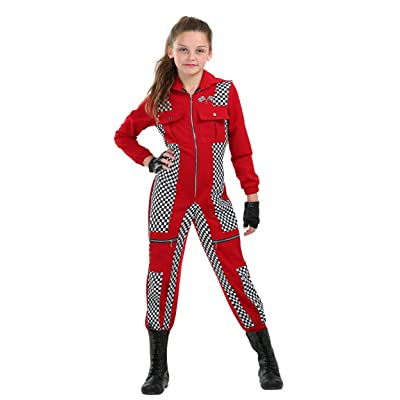 Racer Jumpsuit Girls Costume: Clothing