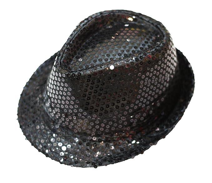 587d046123baa Petitebella Solid Color Sequins Top Hat Unisex Costume for Children (Black)