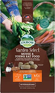 Oxbow Animal Health Garden Select Mouse and Young Rat Food, Garden-Inspired Recipe for Young Rats and Mice of All Ages, Non-GMO, Made in The USA, 2 Pound Bag