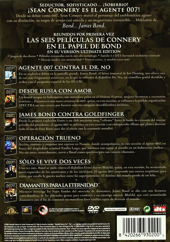 007 Pack James Bond: Sean Connery Collection Box Set DVD: Amazon.es: Sean Connery, Bernard Lee, Pedro Armendariz, Claudine Auger, Desmond Llewelynn, ...