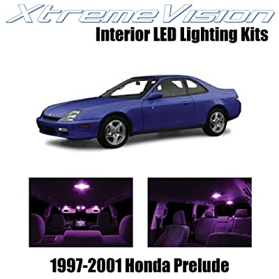 Xtremevision Interior LED for Honda Prelude 1997-2001 (5 Pieces) Pink Interior LED Kit + Installation Tool: Automotive