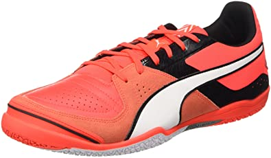 2d507f0d4ae PUMA Invicto Sala Mens Leather Futsal Soccer Sneakers Boots-Red-11.5