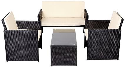 Mobili da giardino set rattan completo poltroncine divano