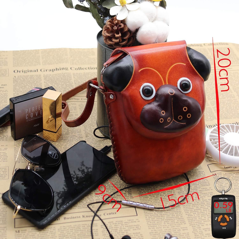Amazon.com: Mini bolsa de piel de vaca para teléfono móvil ...
