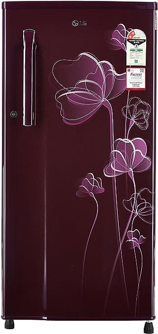 LG 188 L 2 Star Direct Cool Single Door Refrigerator GL B191KSHV, Scarlet Heart  Refrigerators