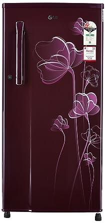 LG 188 L 2 Star Direct Cool Single Door Refrigerator(GL-B191KSHV, Scarlet Heart)
