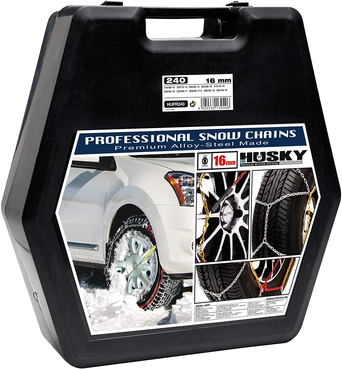 Sumex Hupr240 4wd Husky Professional Snow Chains 16 Mm Auto