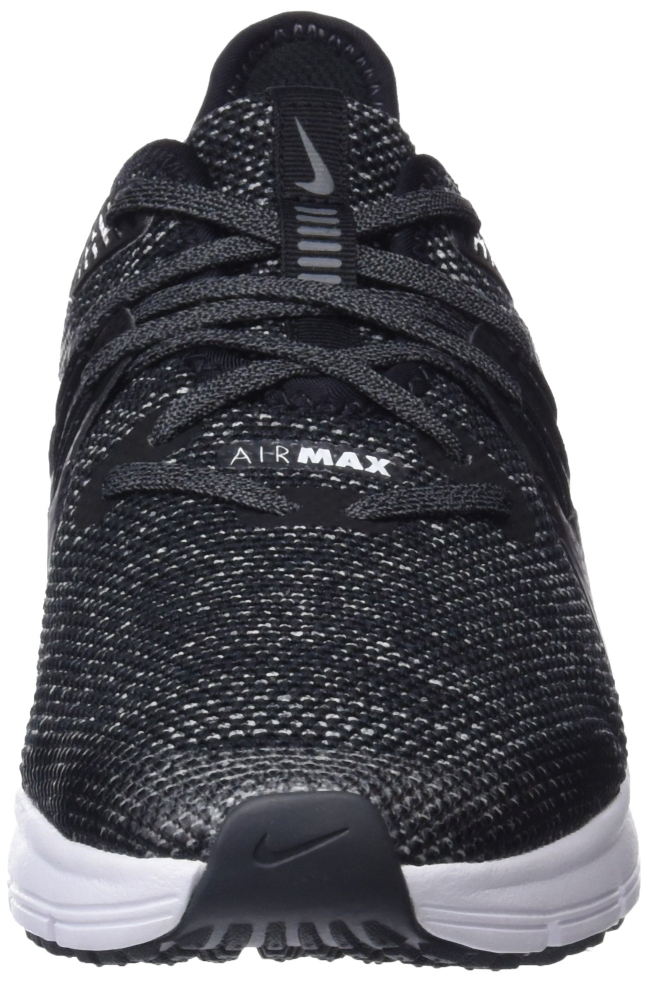 Nike Boy's Air Max Sequent 3 Running Shoe Black/White/Dark Grey Size 3.5 M US by Nike (Image #4)