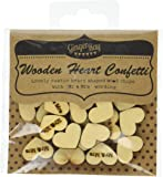 Ginger Ray Mr & Mrs Wooden Heart Rustic Table Party Confetti Scatter - Vintage Affair